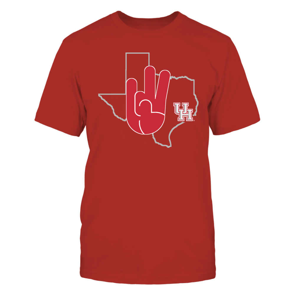 U OF H HAND SIGN IN STATE OUTLINE - HOUSTON COUGARS Front picture