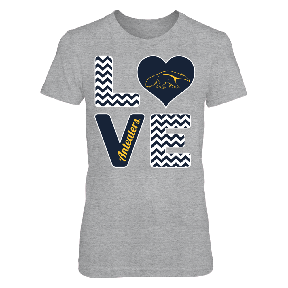 UC Irvine Anteaters Stacked Love - UC Irvine Anteaters Anteaters FanPrint