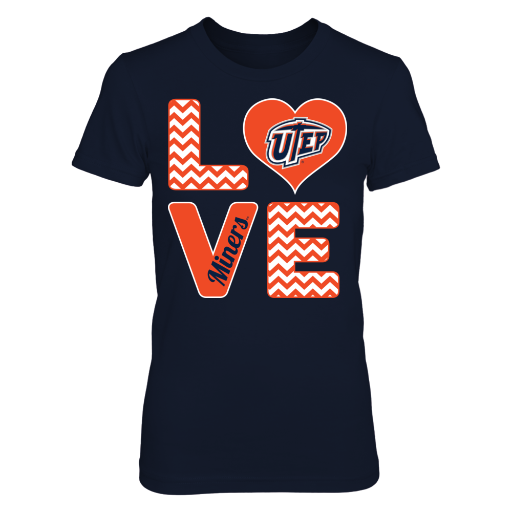UTEP Miners Stacked Love - UTEP Miners FanPrint