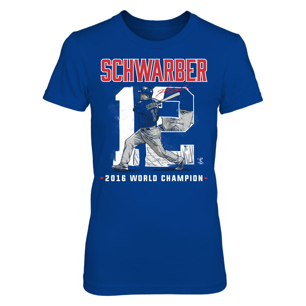 Player Number 2016 World Champion- Kyle Schwarber Front picture