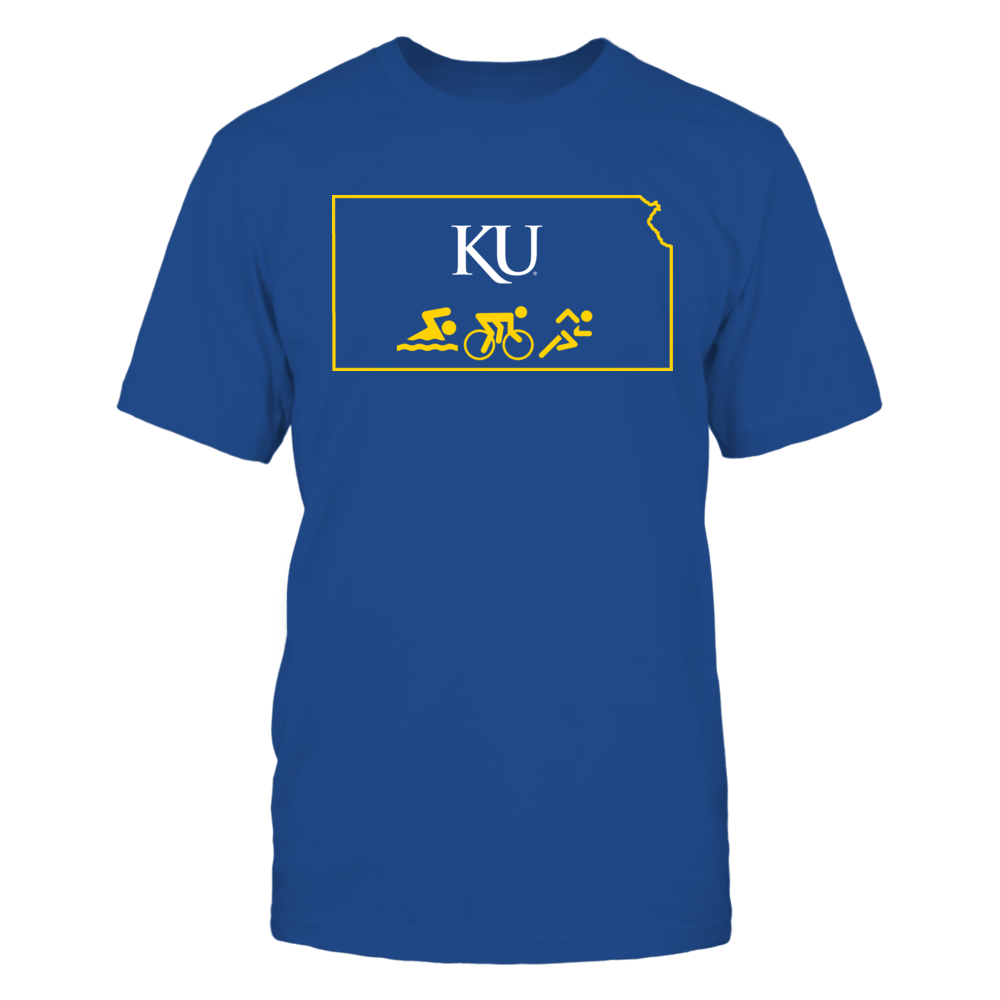 Kansas Jayhawks Swim Bike Run Kansas JayHawks FanPrint