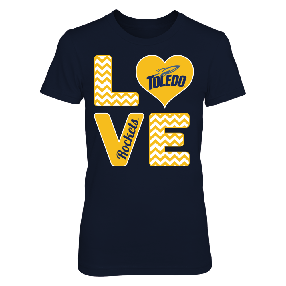 Toledo Rockets Stacked Love - Toledo Rockets FanPrint