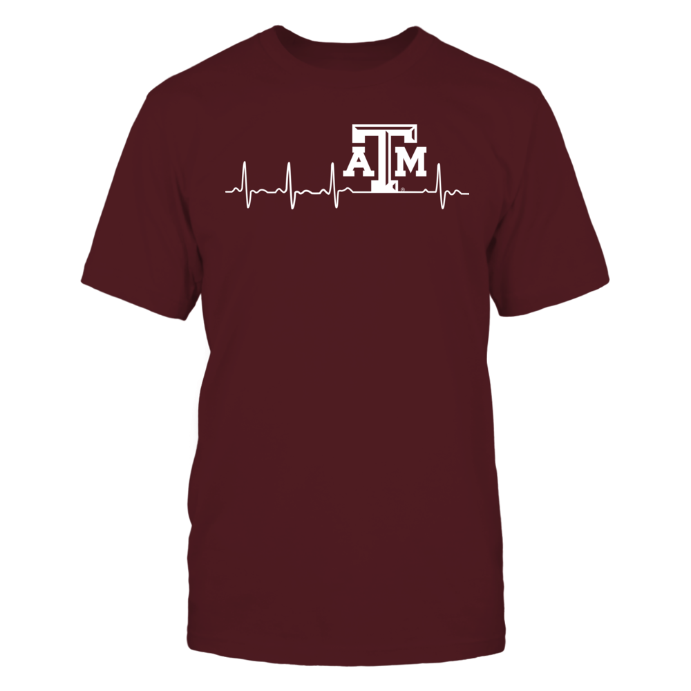 Texas A&M Aggies - heartbeat Front picture