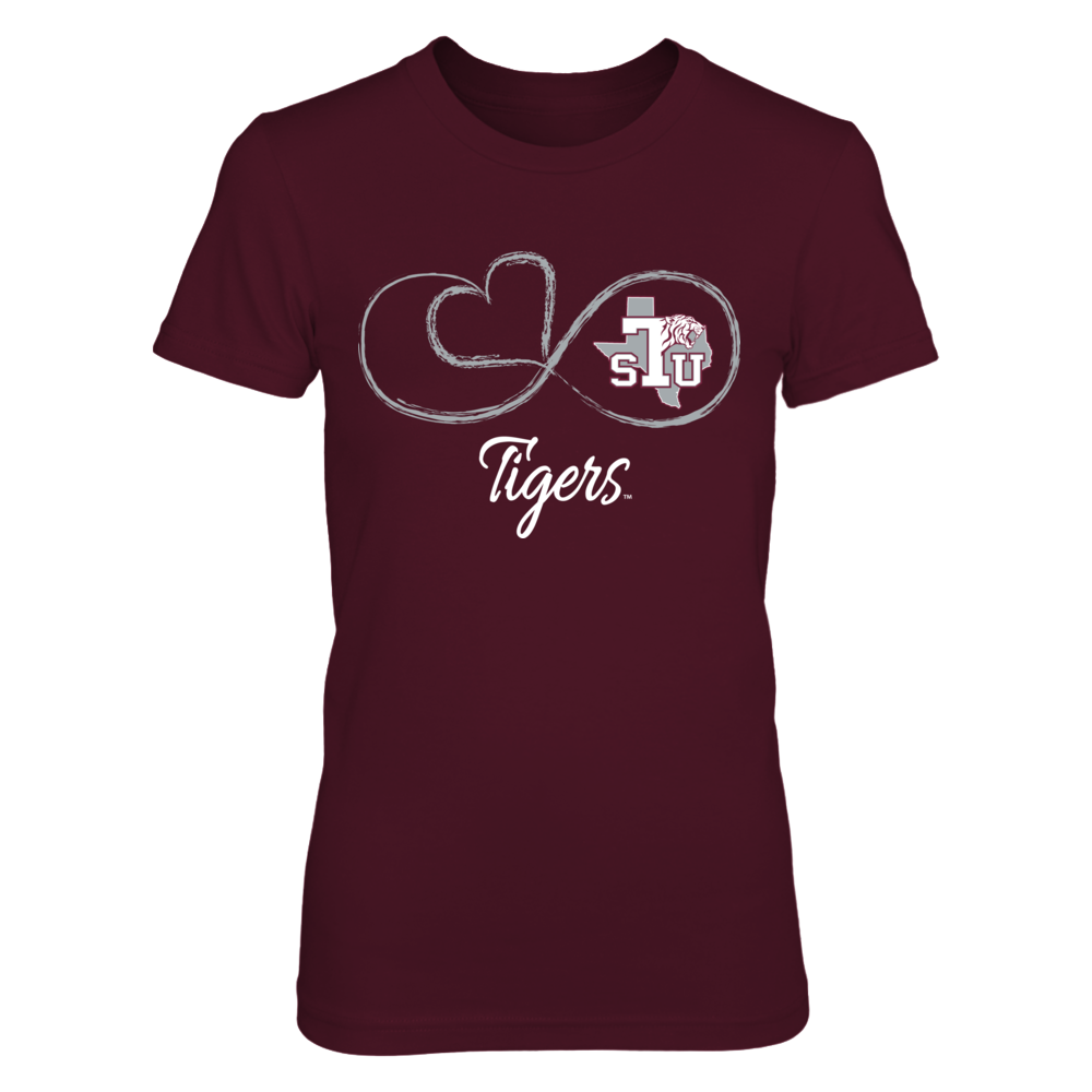 Texas Southern Tigers Infinite Heart - Texas Southern Tigers FanPrint