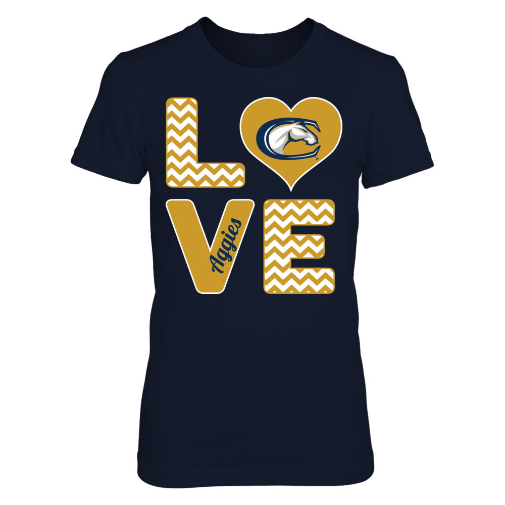 UC Davis Aggies Stacked Love - UC Davis Aggies FanPrint