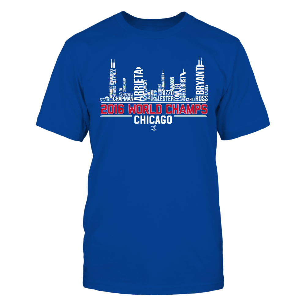 Ben Zobrist 2016 World Champs Skyline Chicago  - Ben Zobrist FanPrint