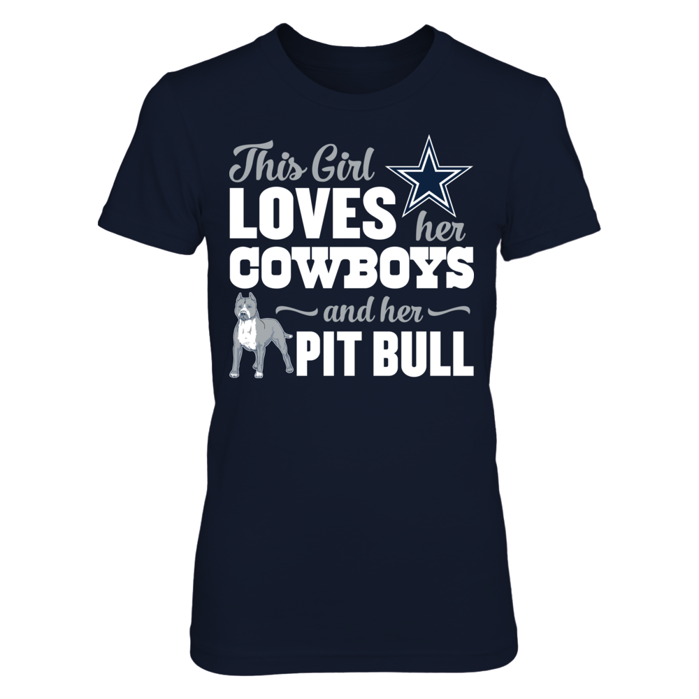Dallas Cowboys - This Girl Loves Her Pit Bull Front picture