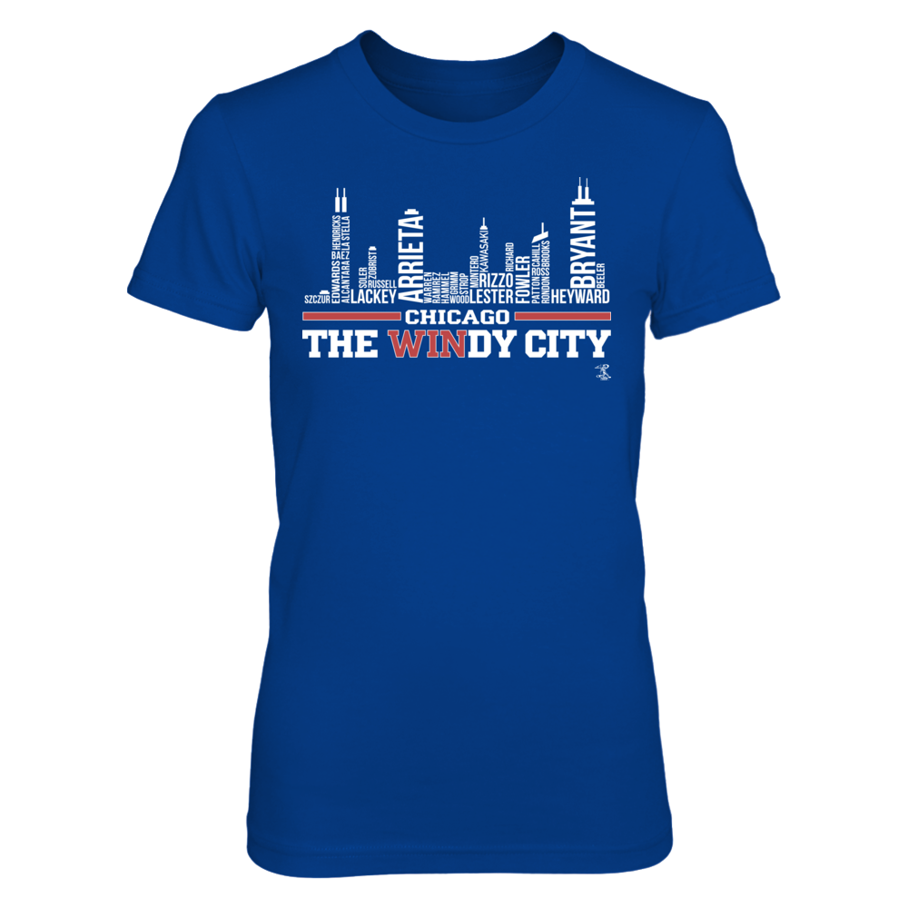 Jake Arrieta - City Skyline With Player Names Front picture