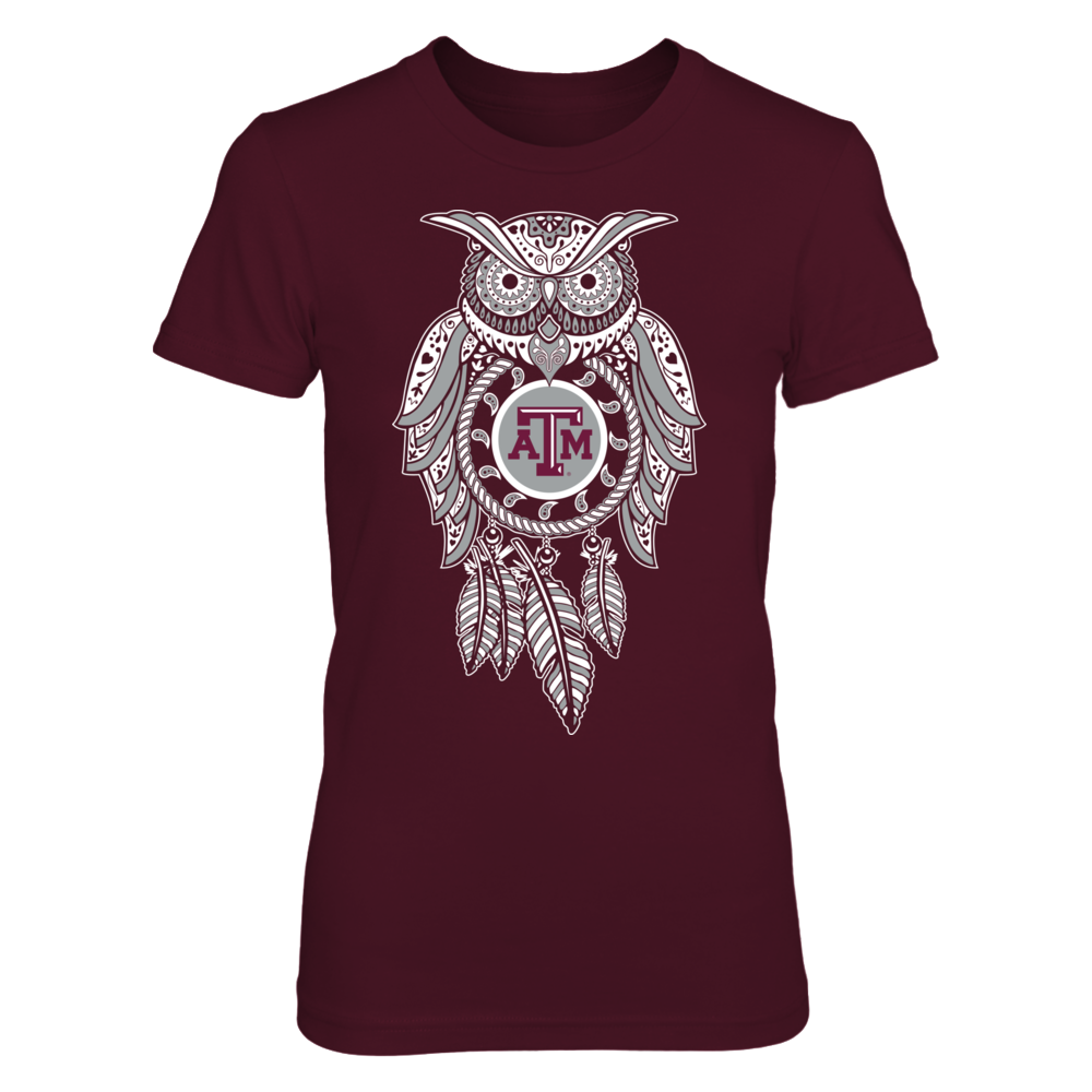 Sugar Skull Owl - Texas A&M Aggies Front picture