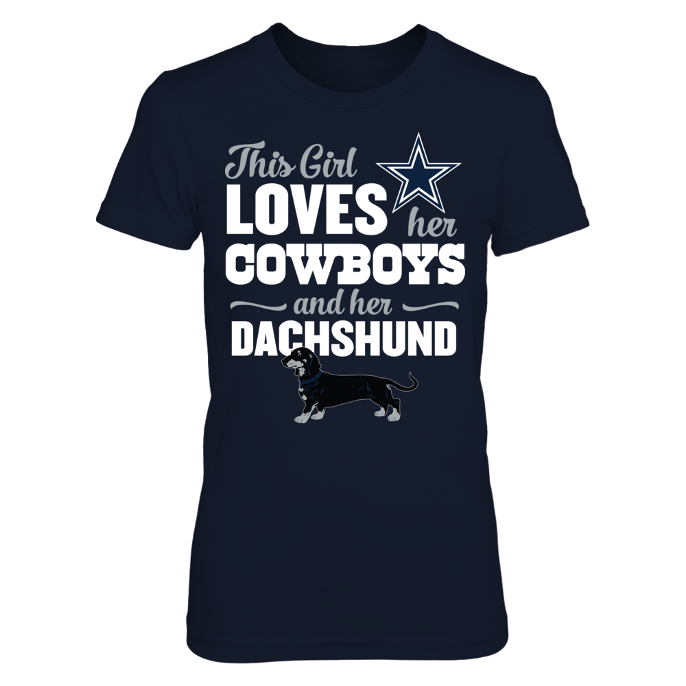 This Girl Loves Her Dog (Dachshund) - Dallas Cowboys Front picture