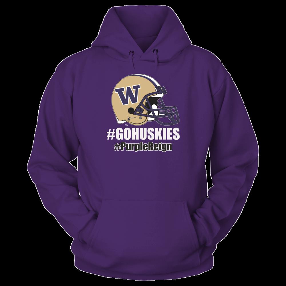 University Washington Team Store - Hashtag #GoHuskies #Purple Reign Front picture
