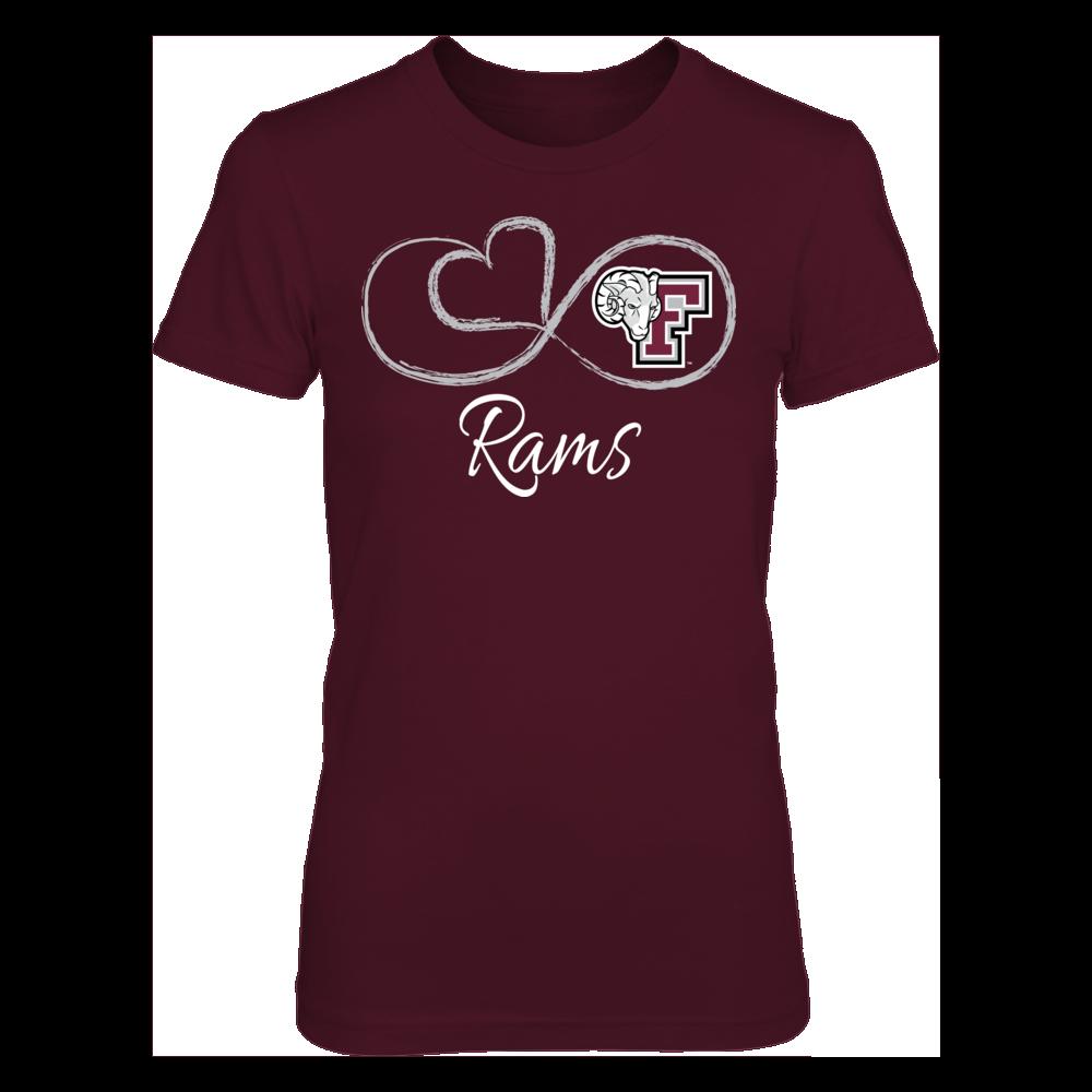 Fordham Rams Infinite Heart - Fordham Rams FanPrint