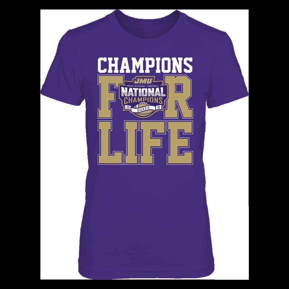 James Madison Dukes James Madison Dukes - For Life (2016 Champions) FanPrint