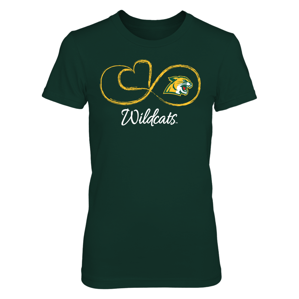Northern Michigan Wildcats Infinite Heart - Northern Michigan Wildcats FanPrint