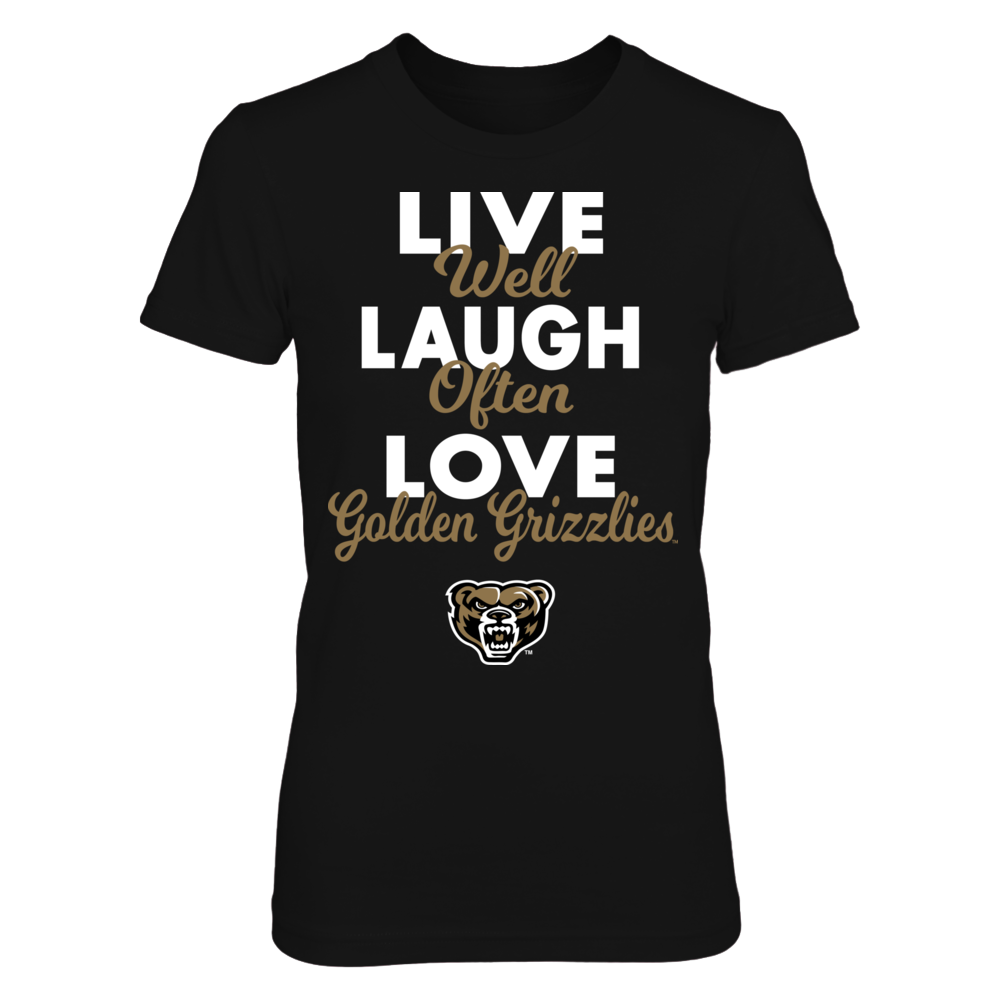 Live Laugh Love - Oakland Golden Grizzlies Front picture