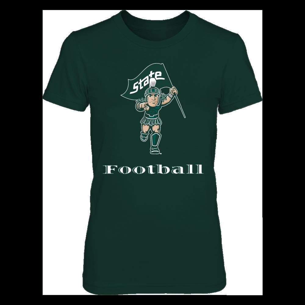 Michigan State Spartans Sparty Football: Michigan State University Football (MSU) FanPrint