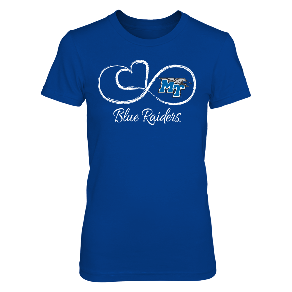 Middle Tennessee State Blue Raiders Infinite Heart - Middle Tennessee State Blue Raiders FanPrint