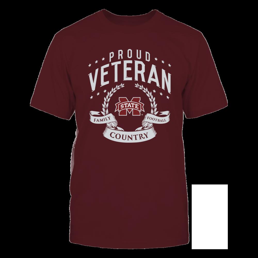 Mississippi State Bulldogs Proud Veteran Mississippi State FanPrint