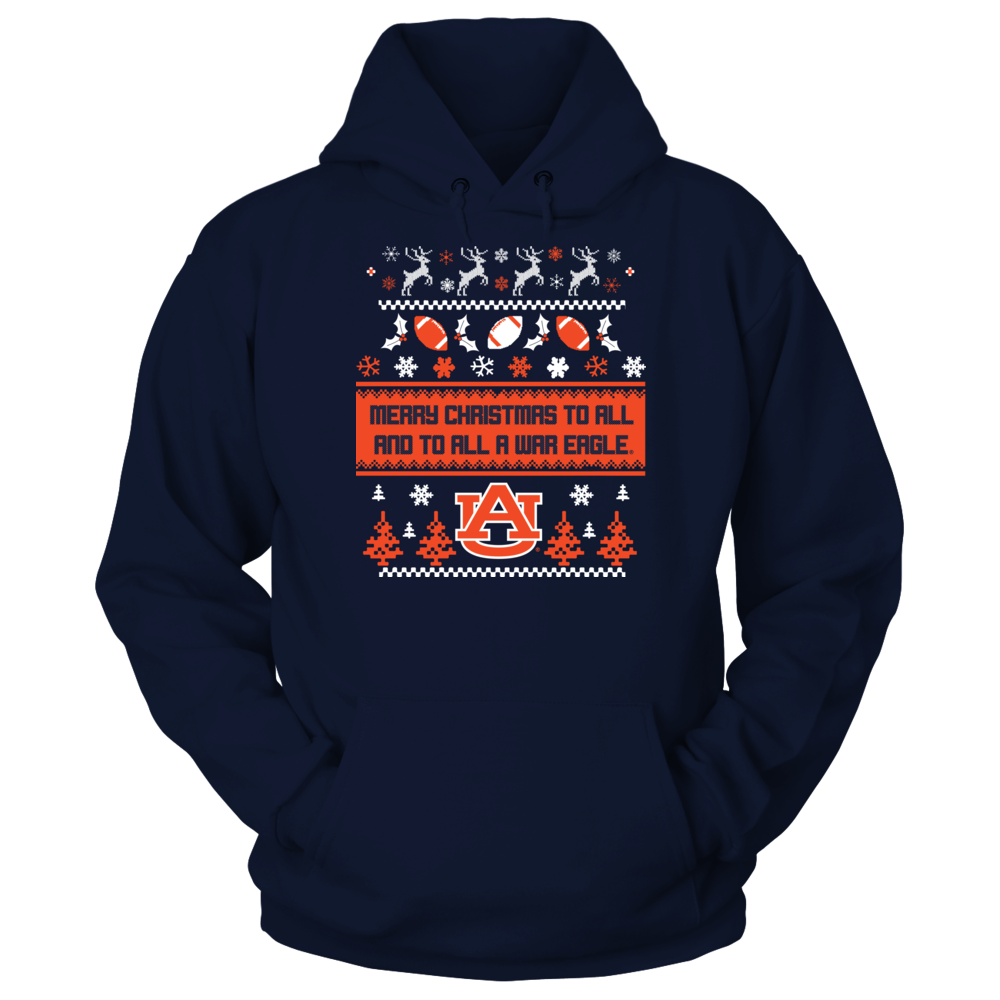 Auburn Tigers - Merry Christmas To All And A War Eagle (Ugly Sweater) Front picture