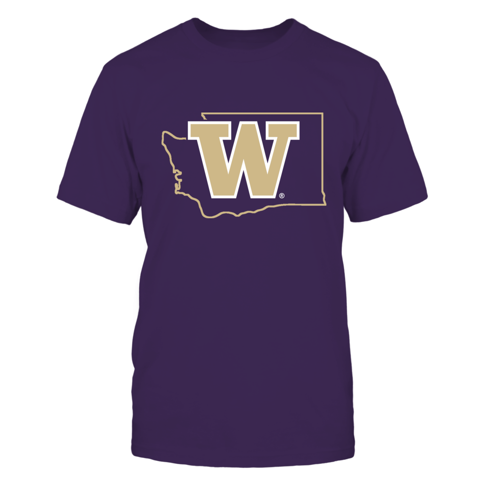 LOGO IN STATE OUTLINE - WASHINGTON HUSKIES Front picture
