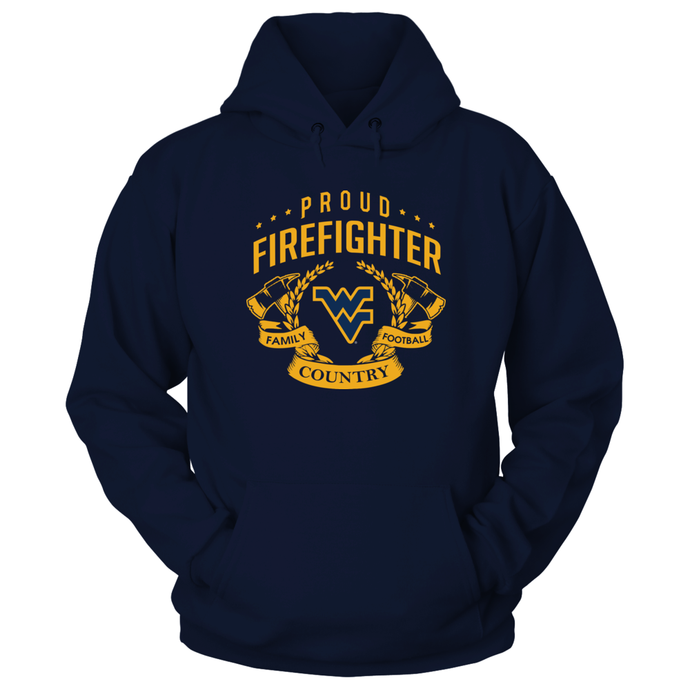 West Virginia Mountaineers - Proud Firefighter Front picture