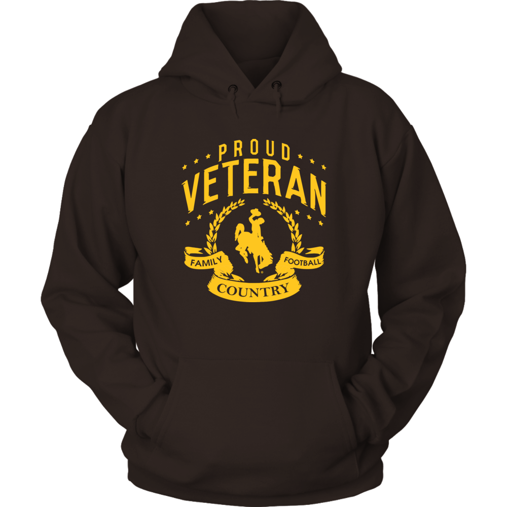 Wyoming Cowboys - Proud Veteran Front picture