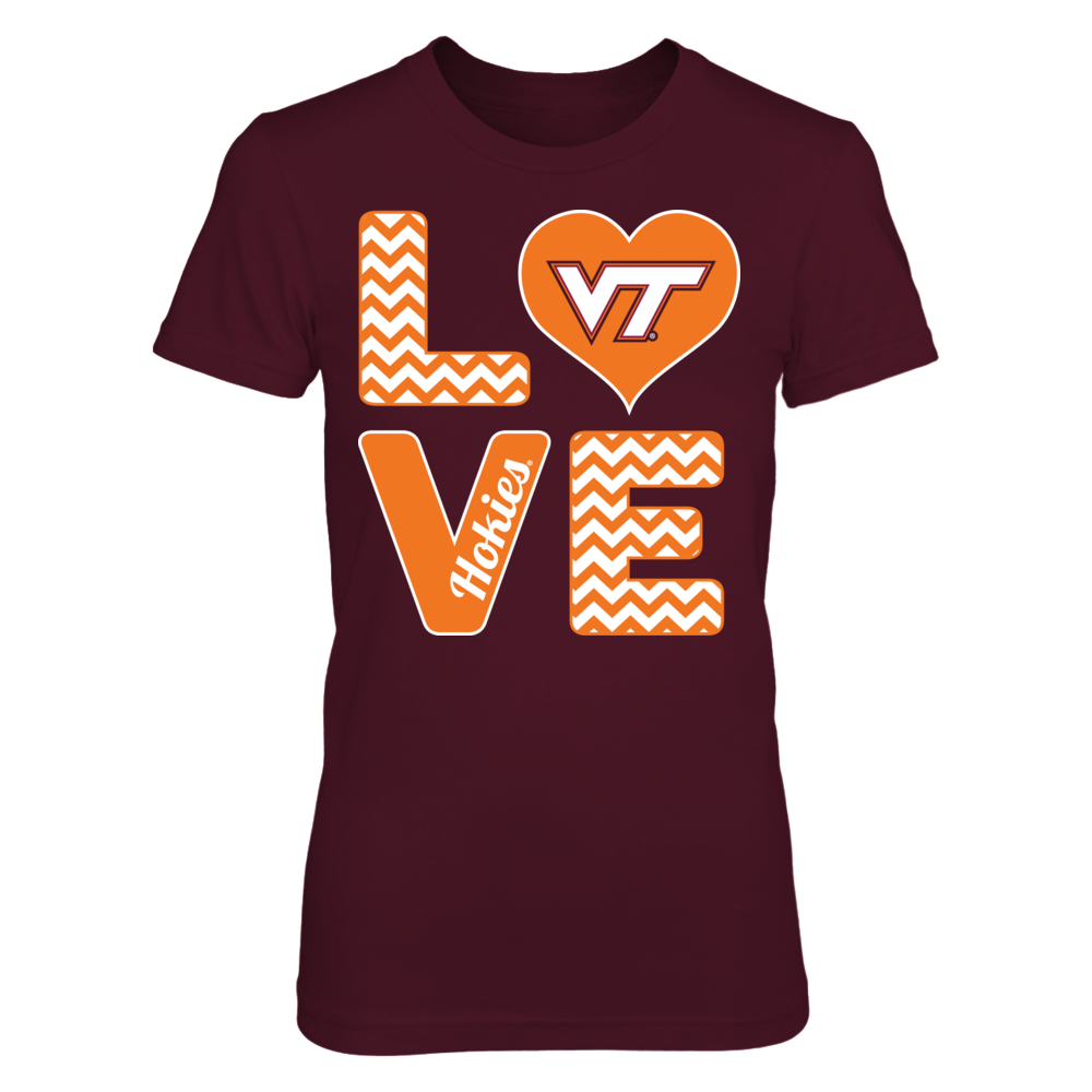 Stacked Love - Virginia Tech Hokies Front picture