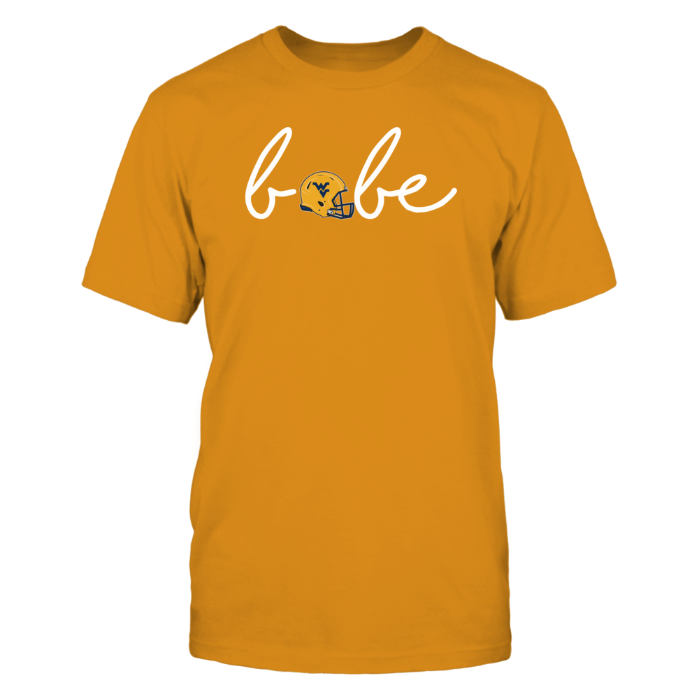 WVU Football Shirts - Be a WVU Football Babe Front picture