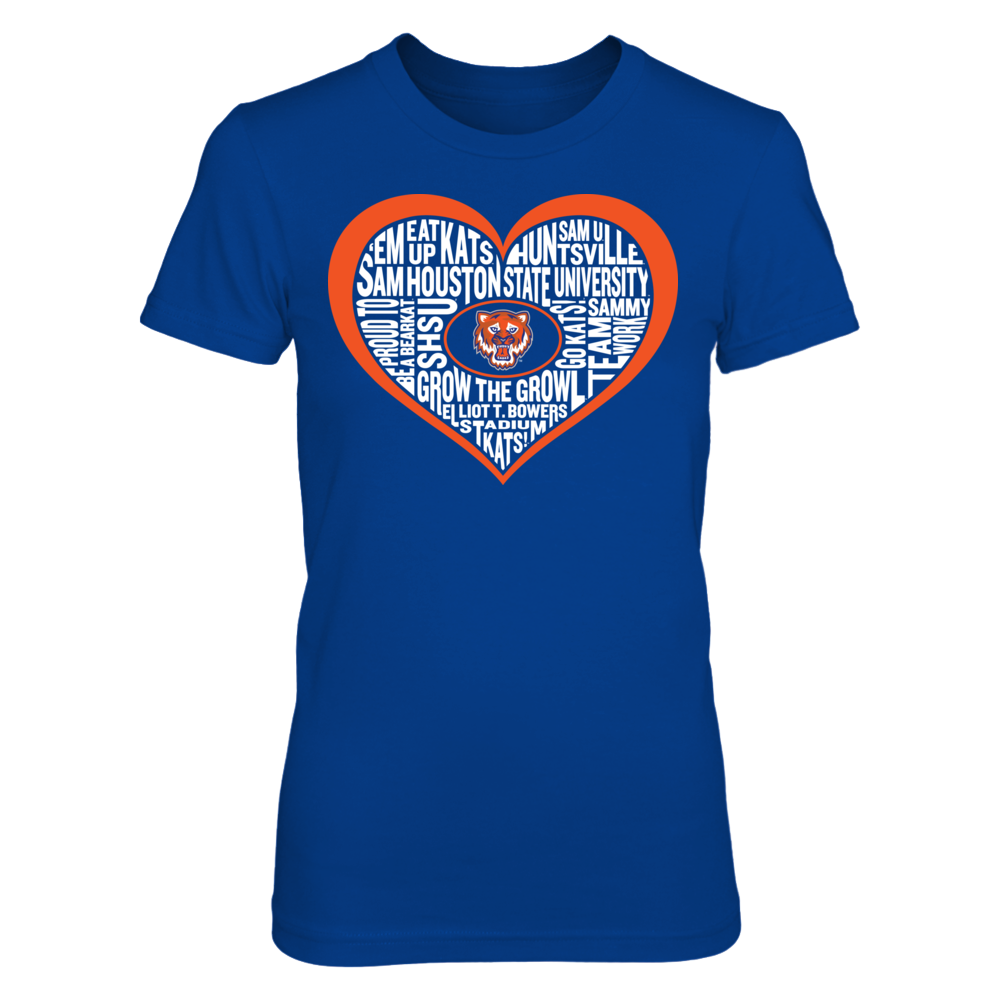 Word Cloud Heart - Sam Houston State Bearkats Front picture