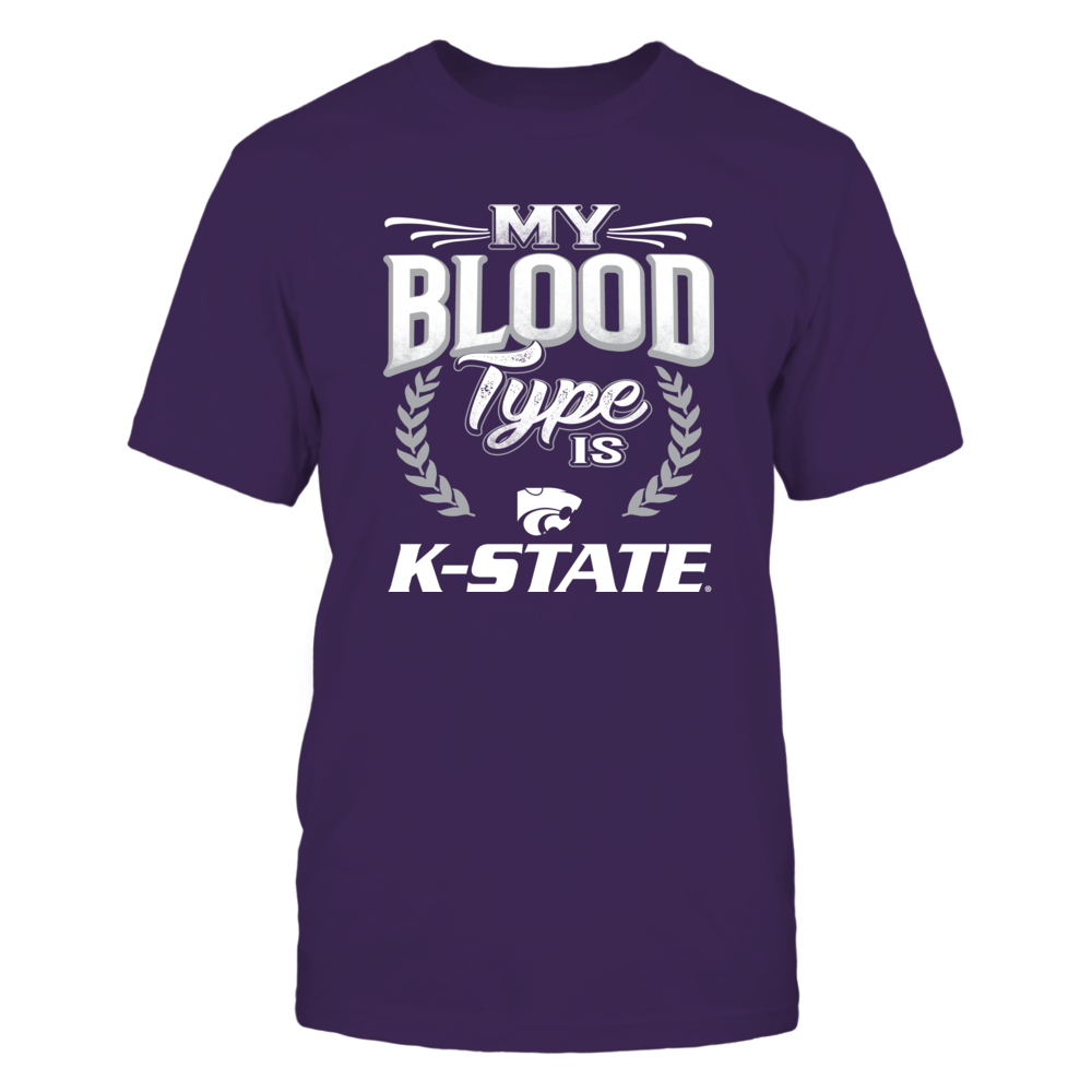 Kansas State Wildcats My Blood Type Is K-State FanPrint
