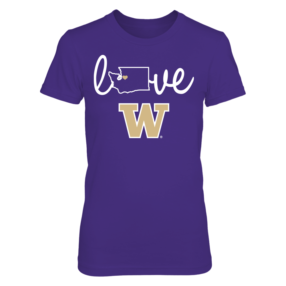 Washington Huskies - Love With State Outline Front picture