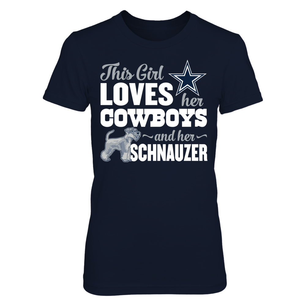 Dallas Cowboys - This Girl Loves Dog - Schnauzer Front picture