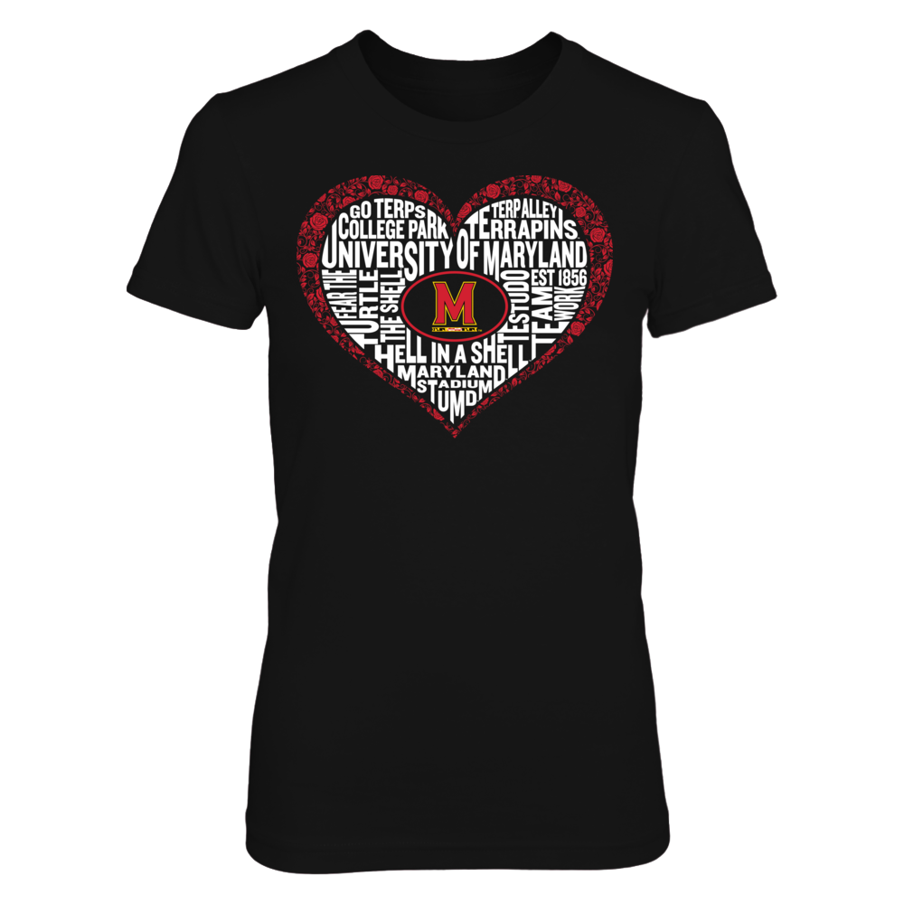 Word Cloud Lace Heart - Maryland Terrapins Front picture