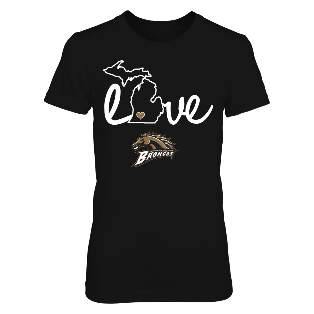 Western Michigan Broncos WMU Broncos - Love With State Outline FanPrint