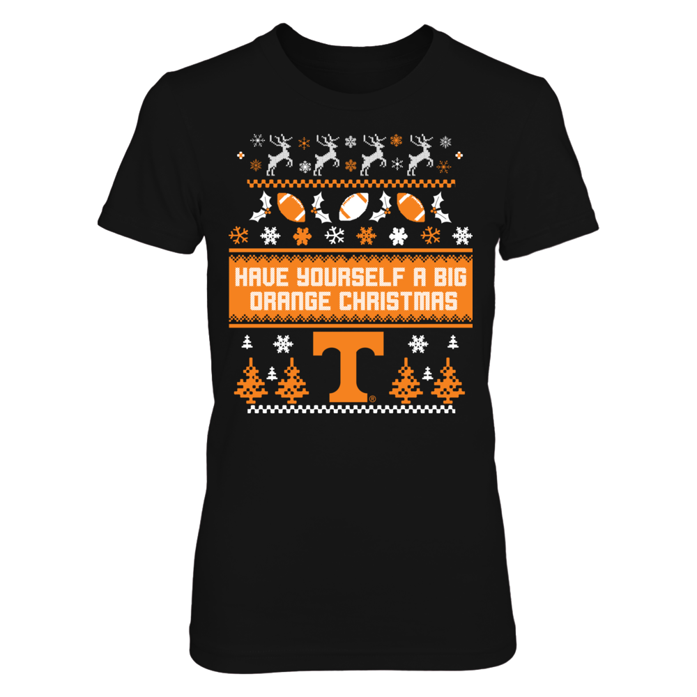 Tennessee Volunteers - Have Yourself A Big Orange Christmas (Ugly Sweater) Front picture