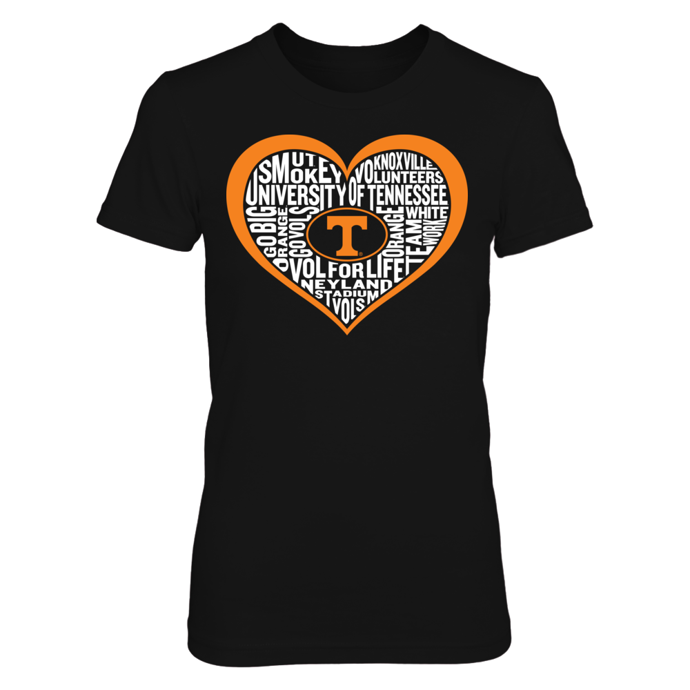 Word Cloud Heart - Tennessee Volunteers Front picture