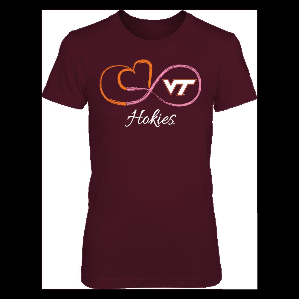 Infinite Heart Pink Ribbon - Virginia Tech Hokies Front picture