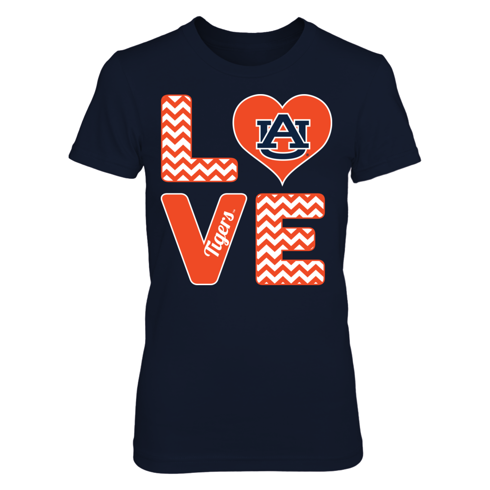 Stacked Love - Auburn Tigers Front picture