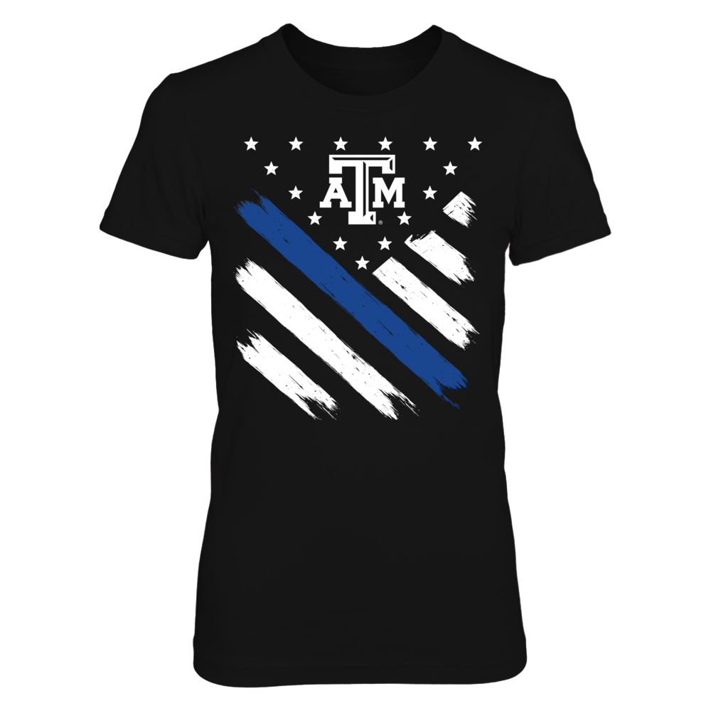 Texas A&M Aggies -Diagonal Thin Blue Line Front picture