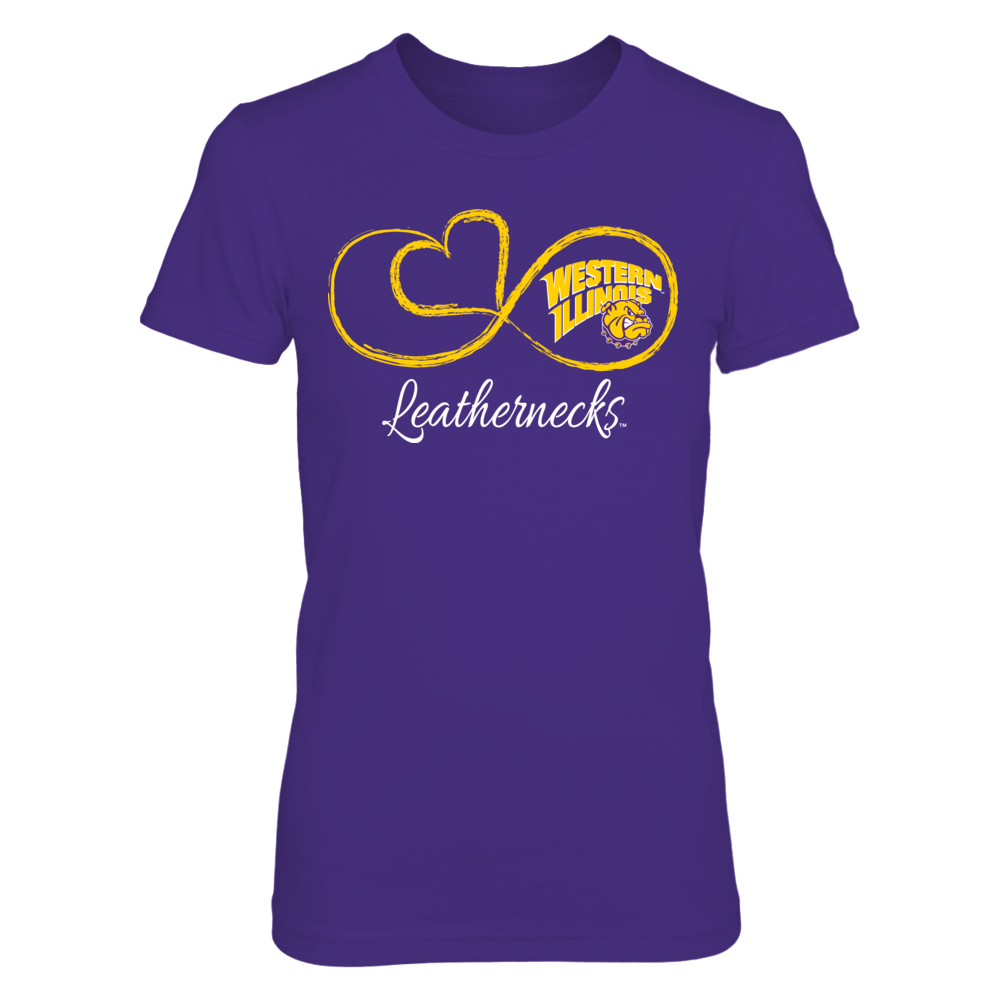 Western Illinois Leathernecks Infinite Heart - Western Illinois Leathernecks FanPrint