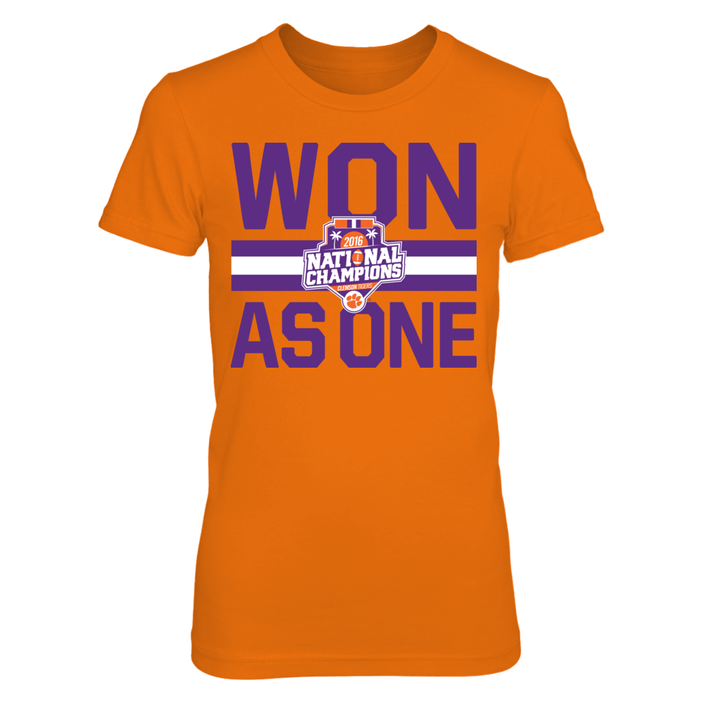 Clemson Tigers - Won As One 2016 Champions Front picture