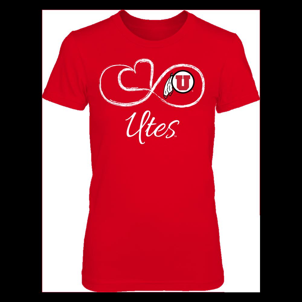 Utah Utes Infinite Heart - Utah Utes FanPrint
