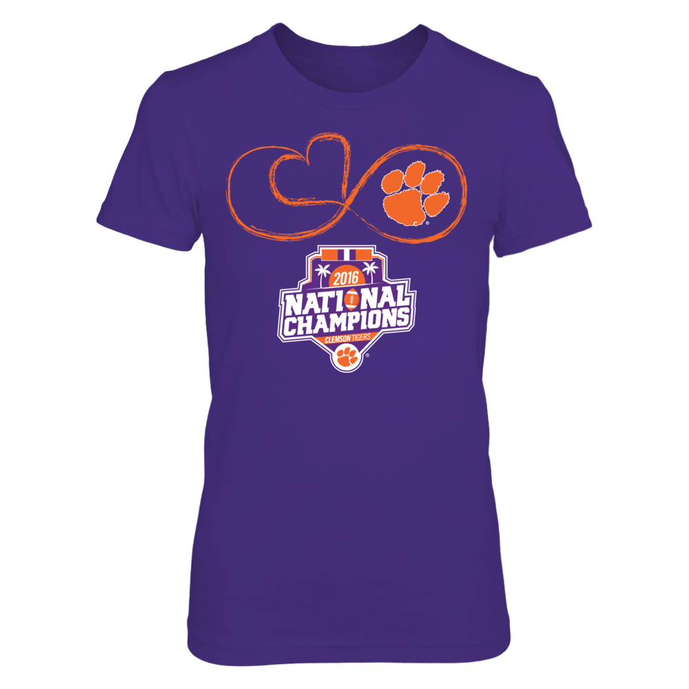 Clemson Tigers Clemson Tigers - Infinite Heart (2016 National Champions) FanPrint