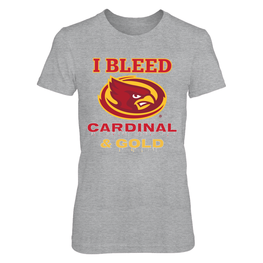 Iowa State Cyclones I Bleed Iowa Cyclones Cardinal and Gold! FanPrint