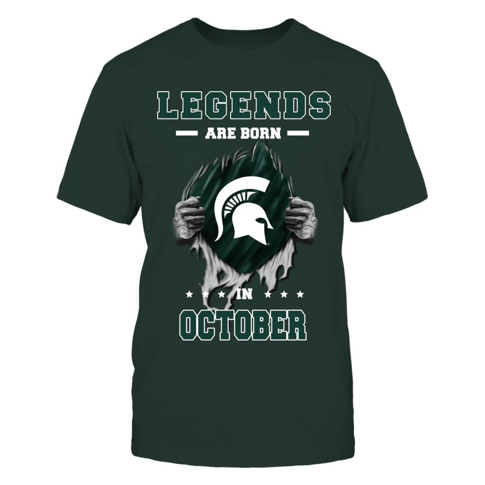 Michigan State Spartans - Legends are born in October Front picture