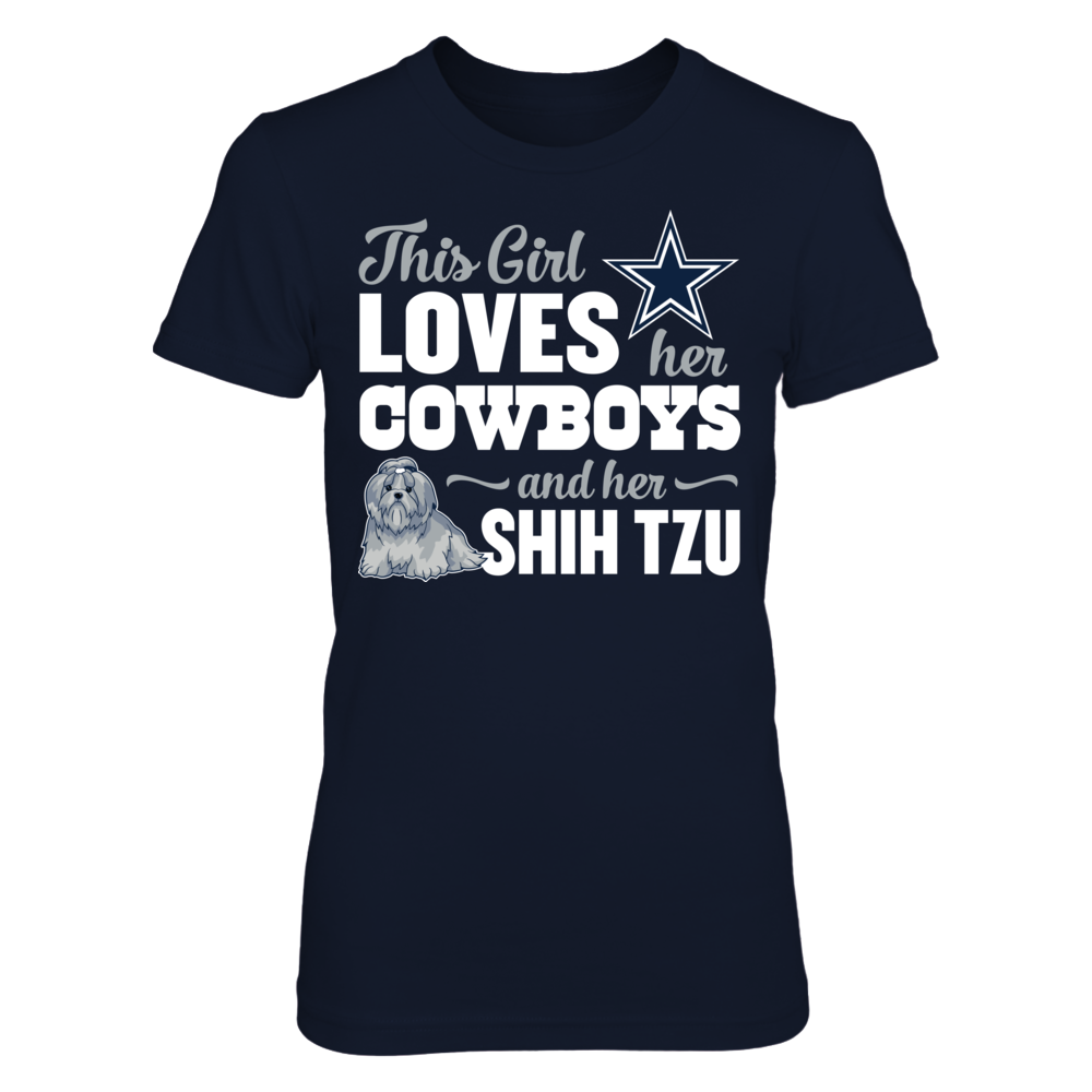 Dallas Cowboys - This Girl Loves Her Shih Tzu Front picture