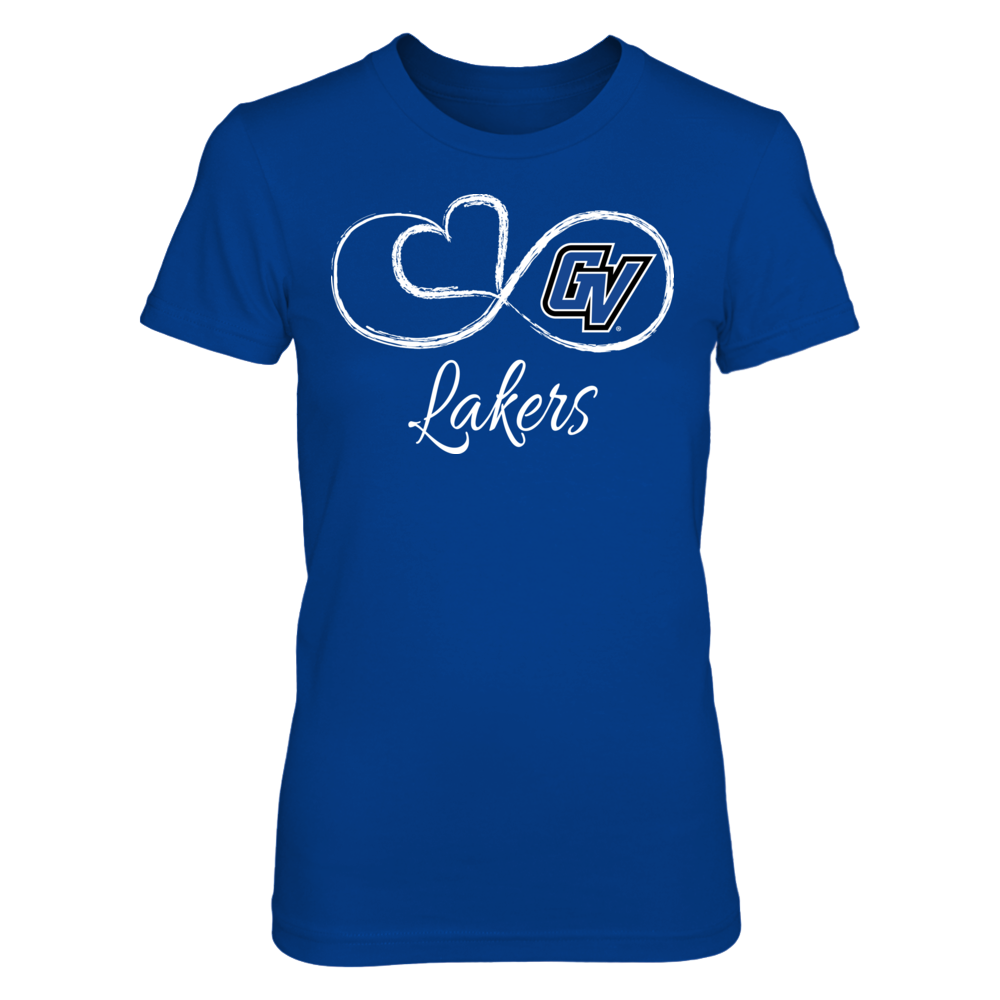 Grand Valley State Lakers Infinite Heart - Grand Valley State Lakers FanPrint