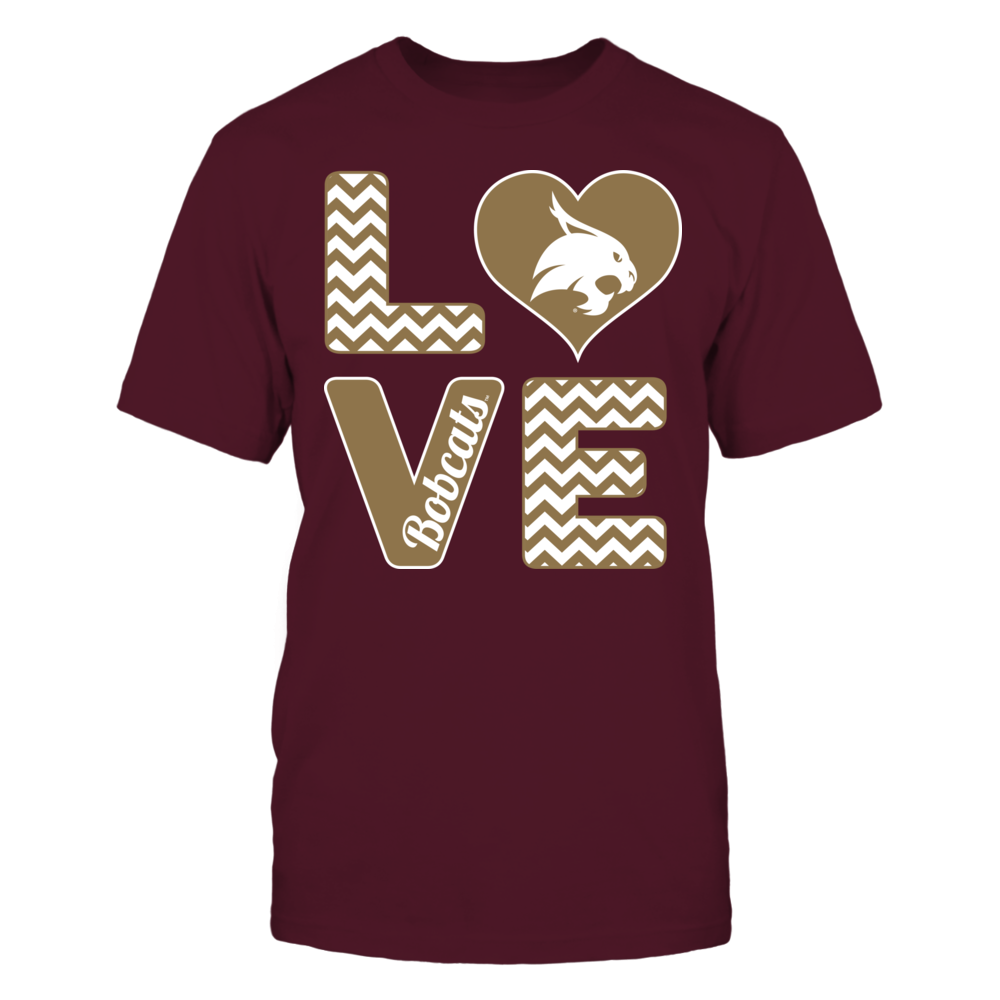 Texas State Bobcats Stacked Love - Texas State Bobcats FanPrint