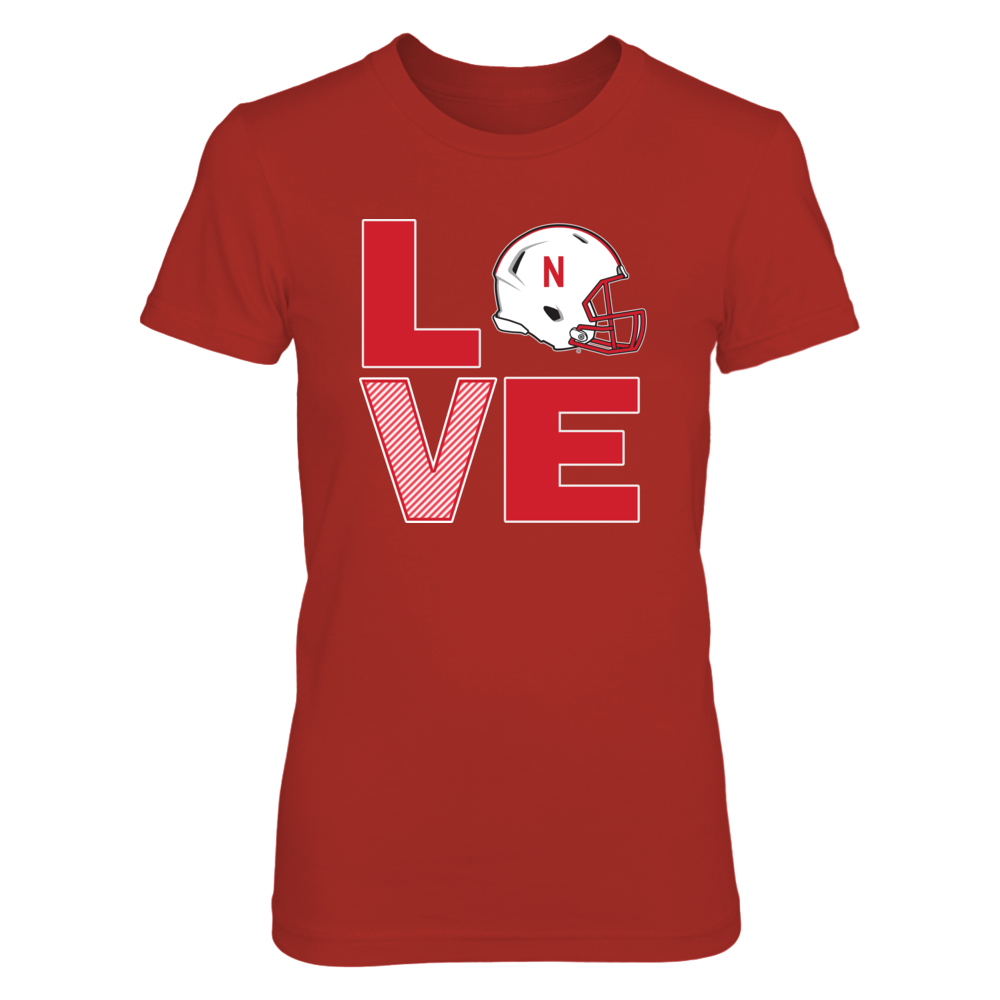 Nebraska Huskers Apparel -  Footbal Love Front picture