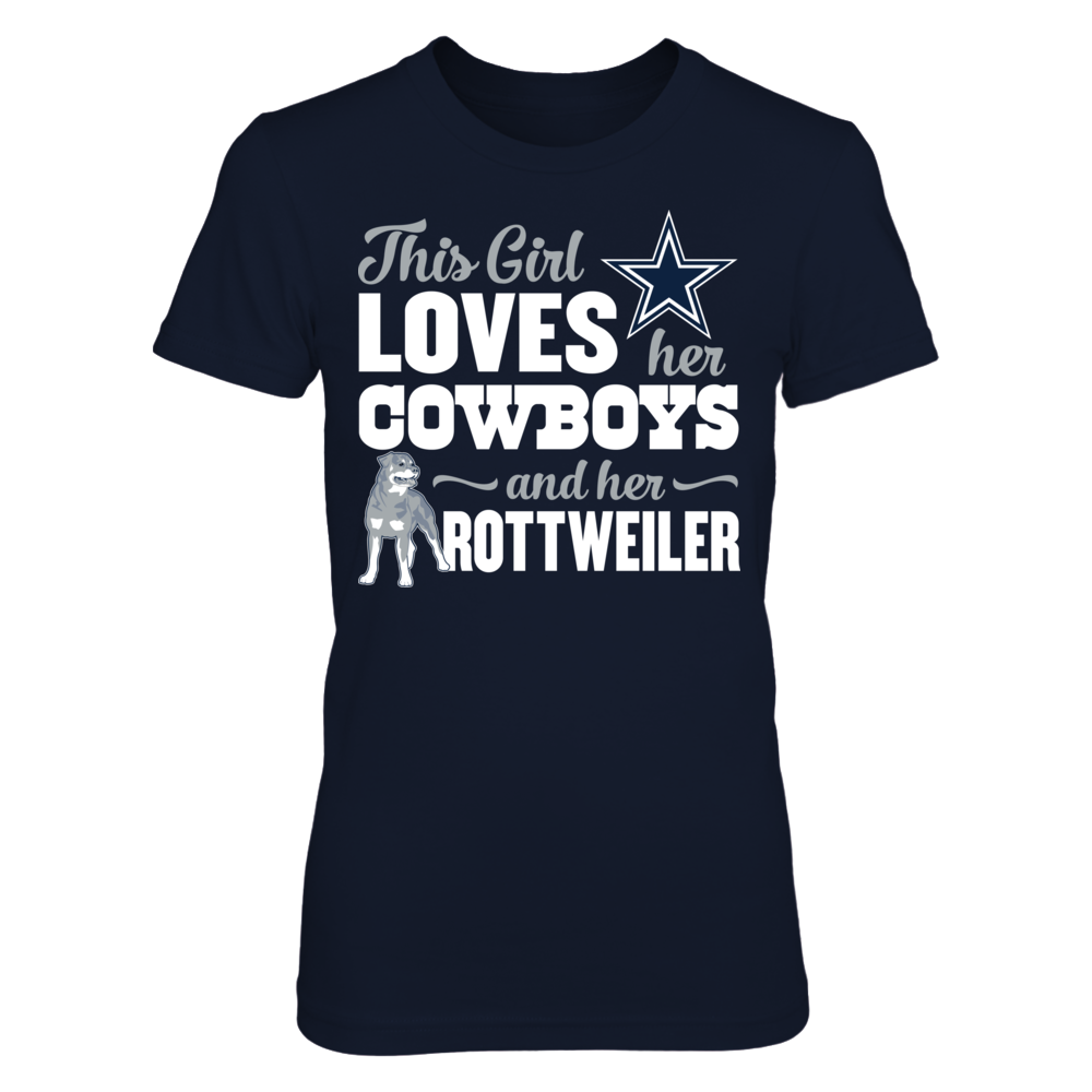 Dallas Cowboys - This Girl Loves Dog - Rottweiler Front picture